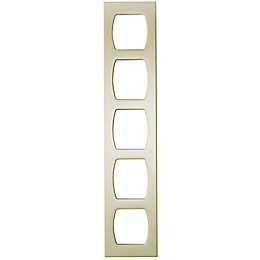 Cooke & Lewis Cream Tall wine rack frame