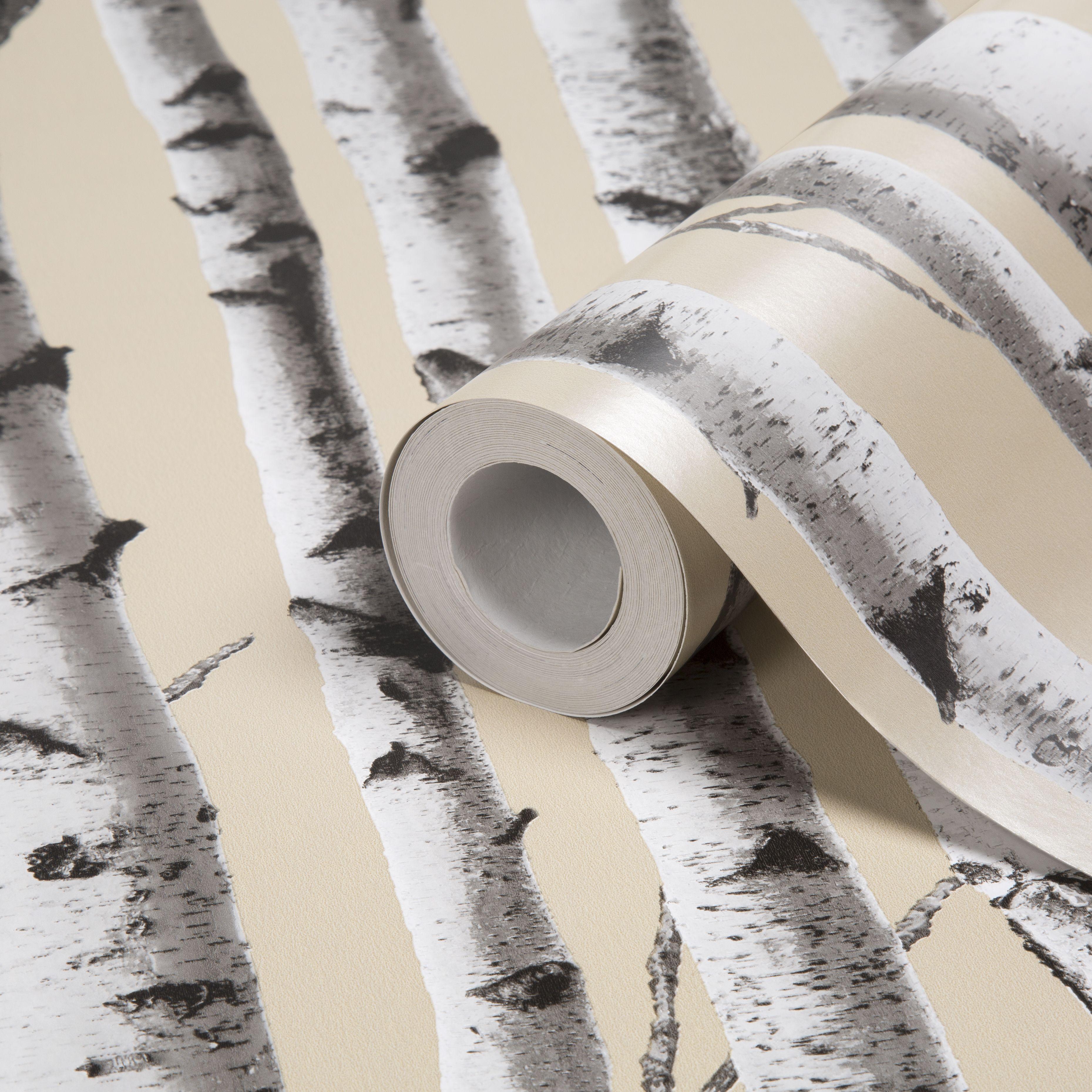 Colours Birchfield Trees Mica Effect Wallpaper | Departments | DIY at B&Q