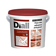 Diall Ready mixed Floor tile adhesive & grout, Grey 14.6kg