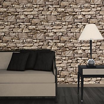Colours grey stone effect wallpaper