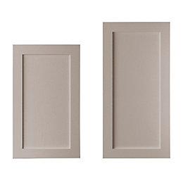 Cooke & Lewis Carisbrooke Taupe Tall Larder Door