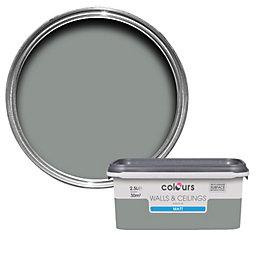 Colours Cool Slate Matt Emulsion Paint 2.5L
