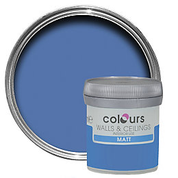 Colours Standard Electric Blue Matt Emulsion Paint 0.05L