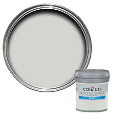 Colours Grey Hints Matt Emulsion Paint 0.05L Tester