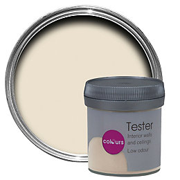 Colours Ivory Matt Emulsion paint 0.05L Tester pot