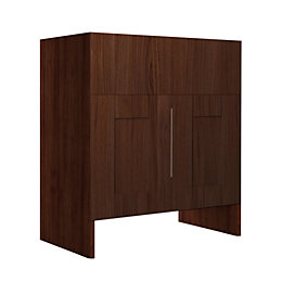 Cooke & Lewis Sorella Walnut effect Basin unit,