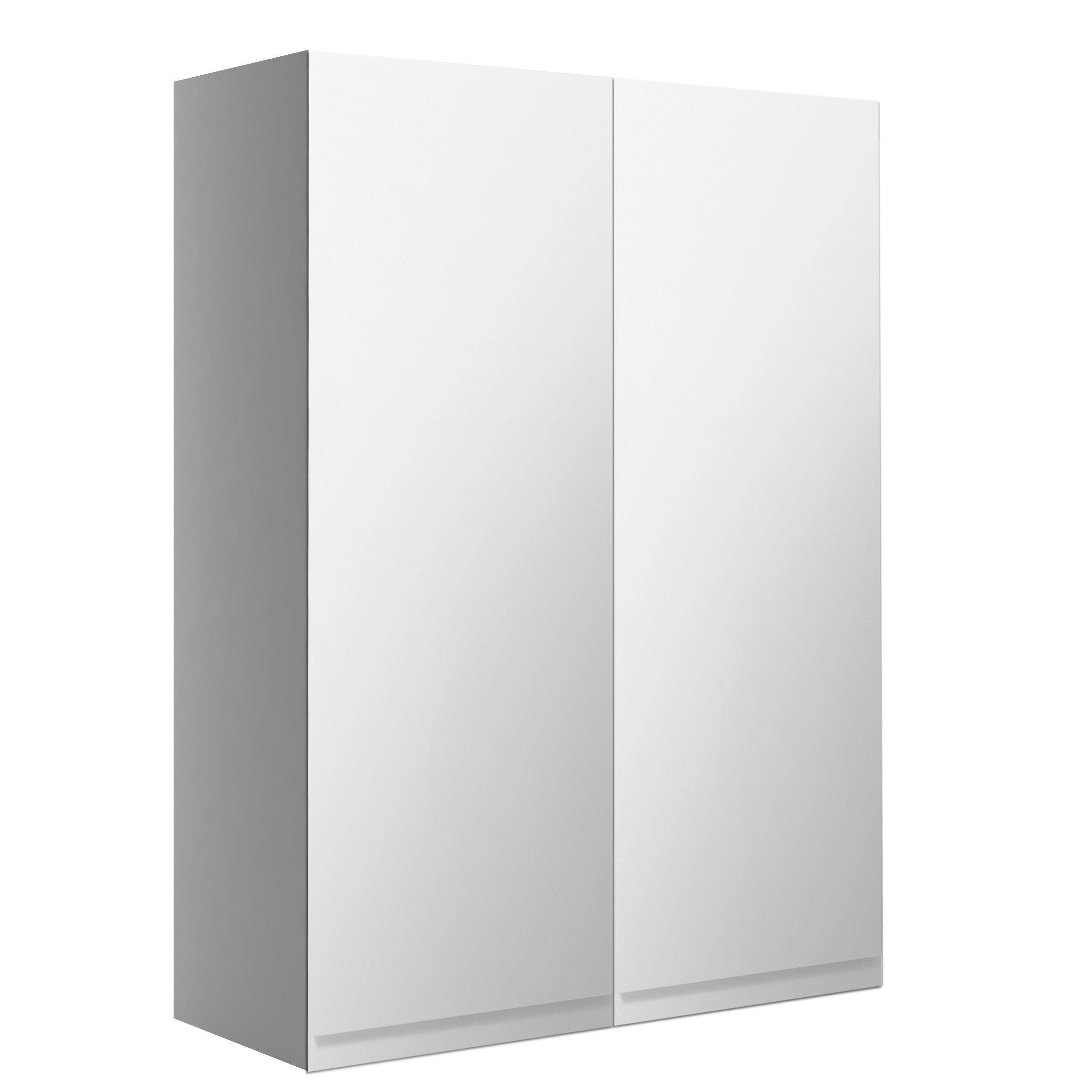 Diy Mirror Cabinet Door: Cooke & Lewis Marletti Gloss White Mirrored Double Door