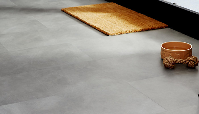 """Colours Grey Stone Effect Luxury Vinyl Click Flooring"""