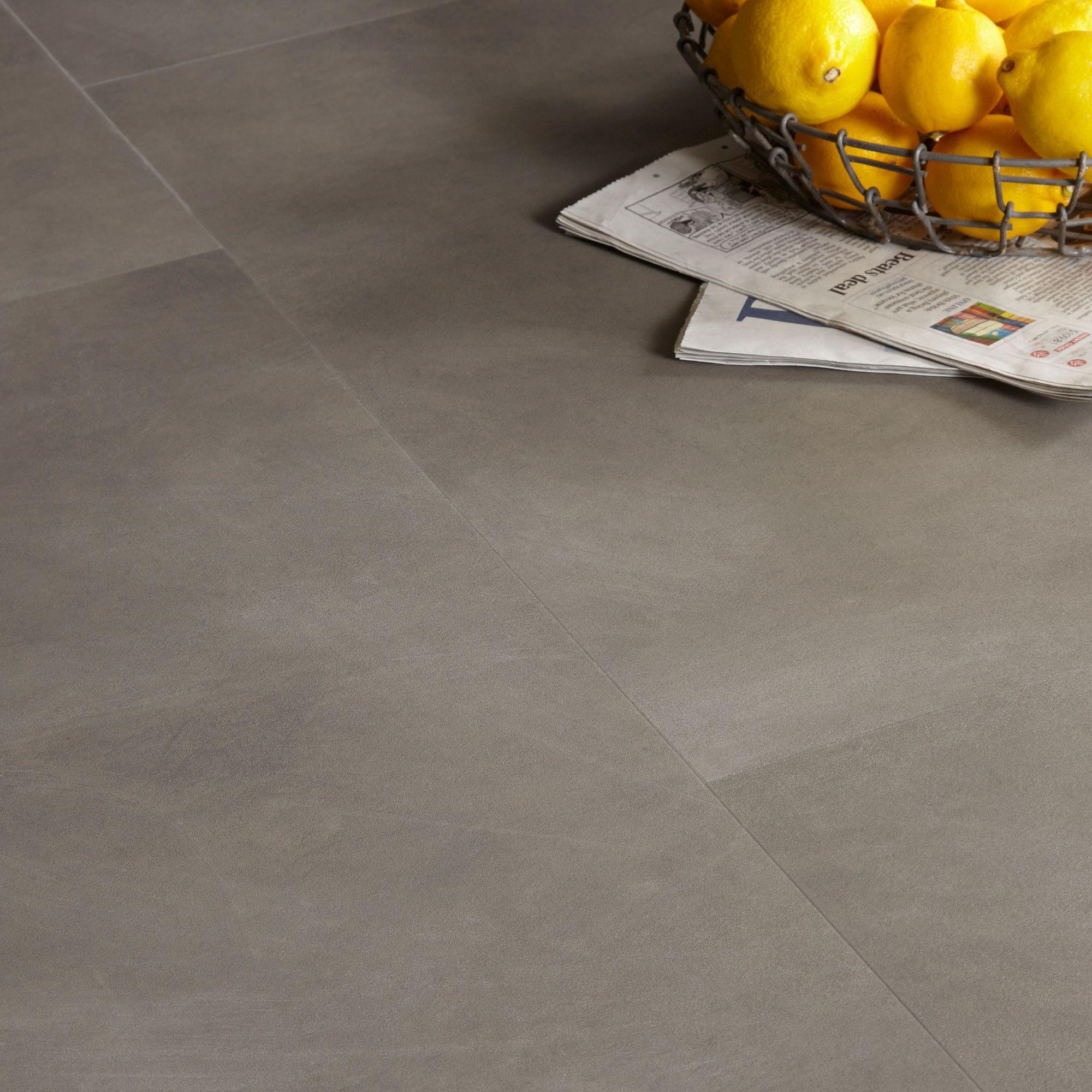 Colours Grey Stone Effect Luxury Vinyl Click Flooring