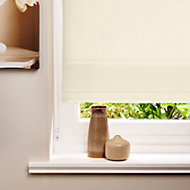 Colours Malle Corded Cream Roman blind (L)160 cm (W)180 cm