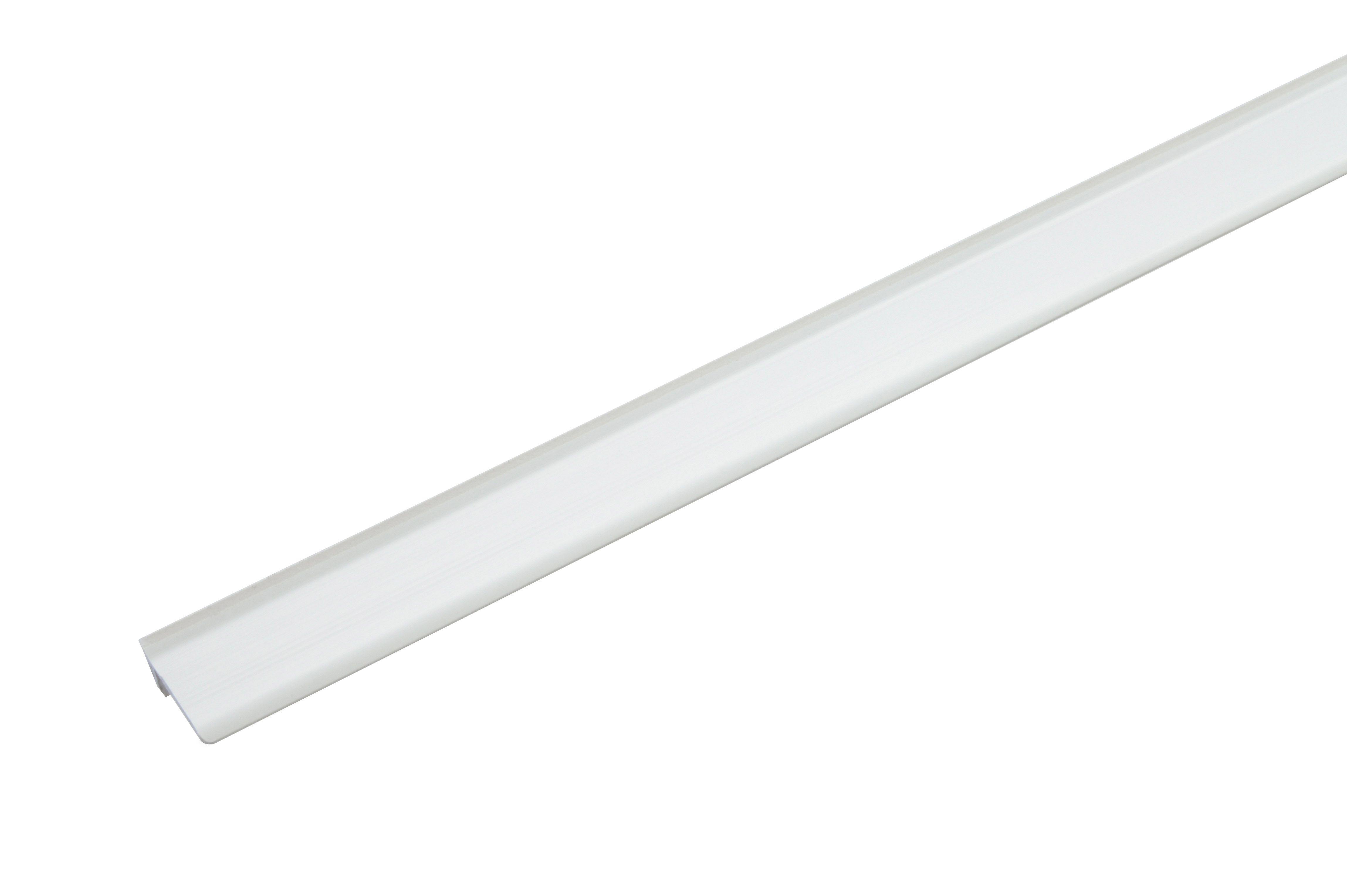 White Plastic Floor Edge Trim 2 X2 M Departments