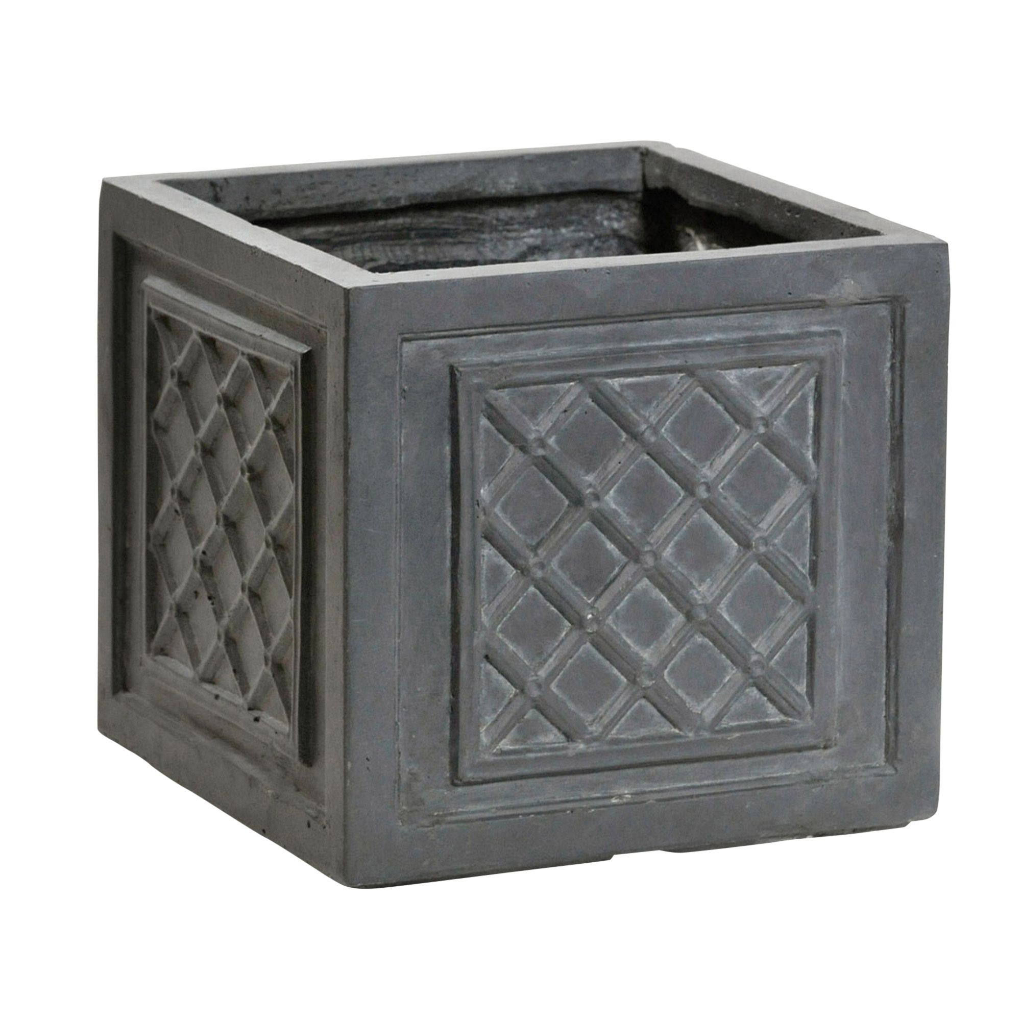 Bathroom Ideas Pictures Loxley Square Grey Planter H 350mm Departments Diy At B Amp Q