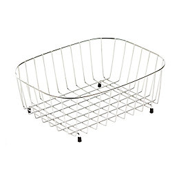 Cooke & Lewis Stainless Steel Effect Silver Basket