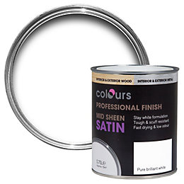 Colours Interior Pure Brilliant White Satin Wood &