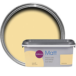 Colours Lemon ice Matt Emulsion paint 2.5L