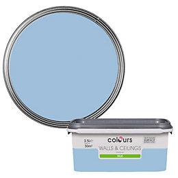 Colours Standard China blue Silk Emulsion paint 2.5L