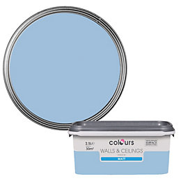 Colours Standard China blue Matt Emulsion paint 2.5L