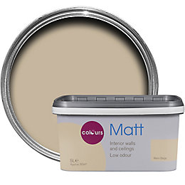 Colours Warm Beige Matt Emulsion paint 5 L