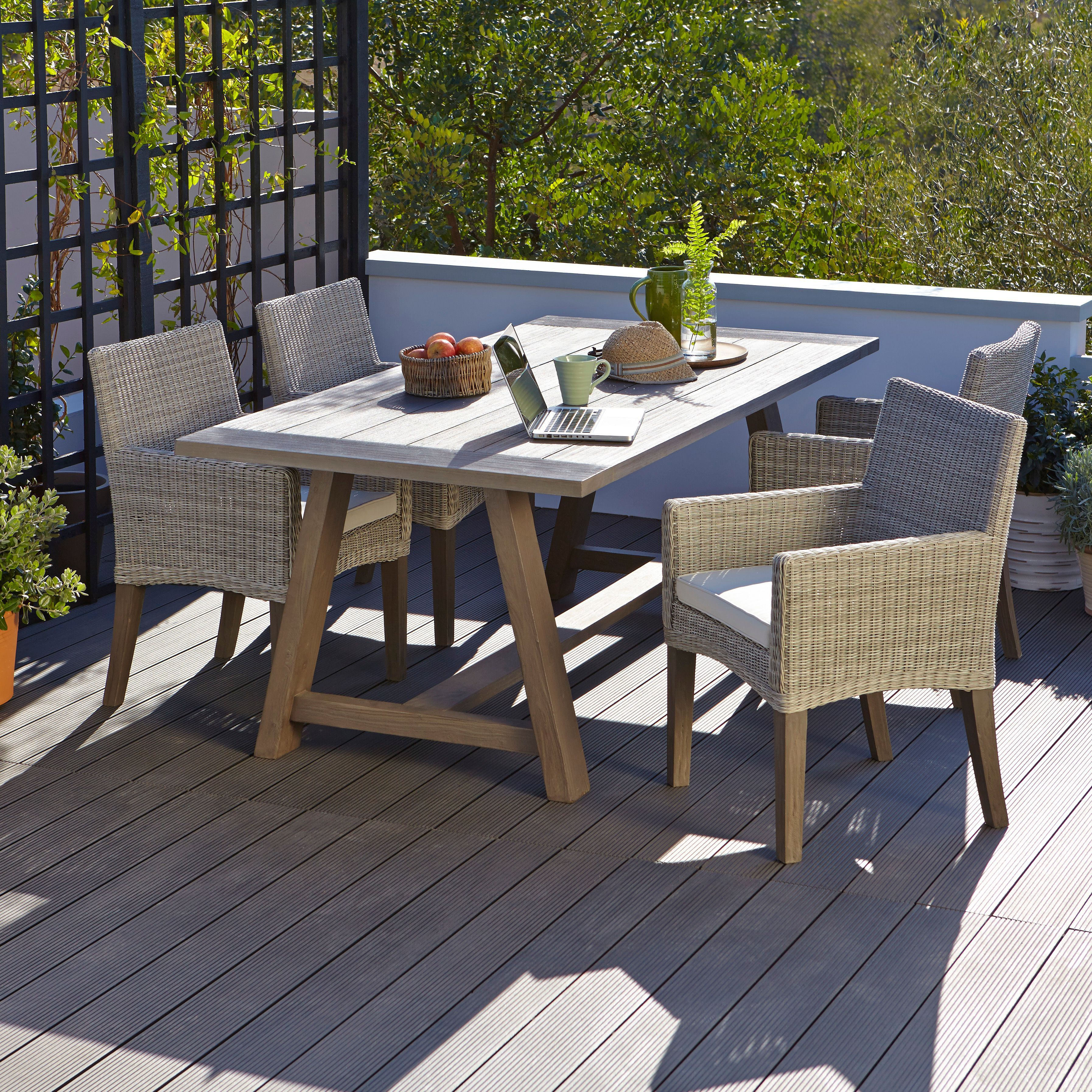 Praslin Seater Garden Dining Set   Departments   DIY at B&Q