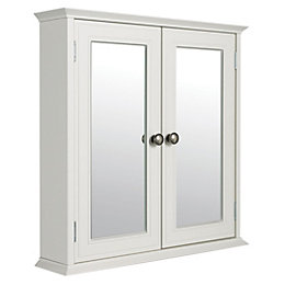 Cooke & Lewis Romano Double Door White Mirror