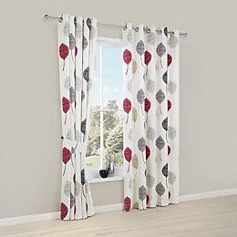Dario Beige, Grey, Red & White Floral Printed