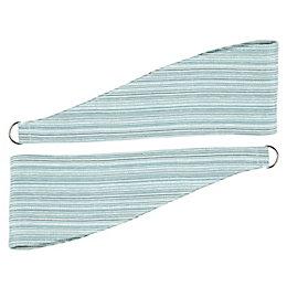 Colours Albertina Duck Egg Chenille Stripe Curtain Tie