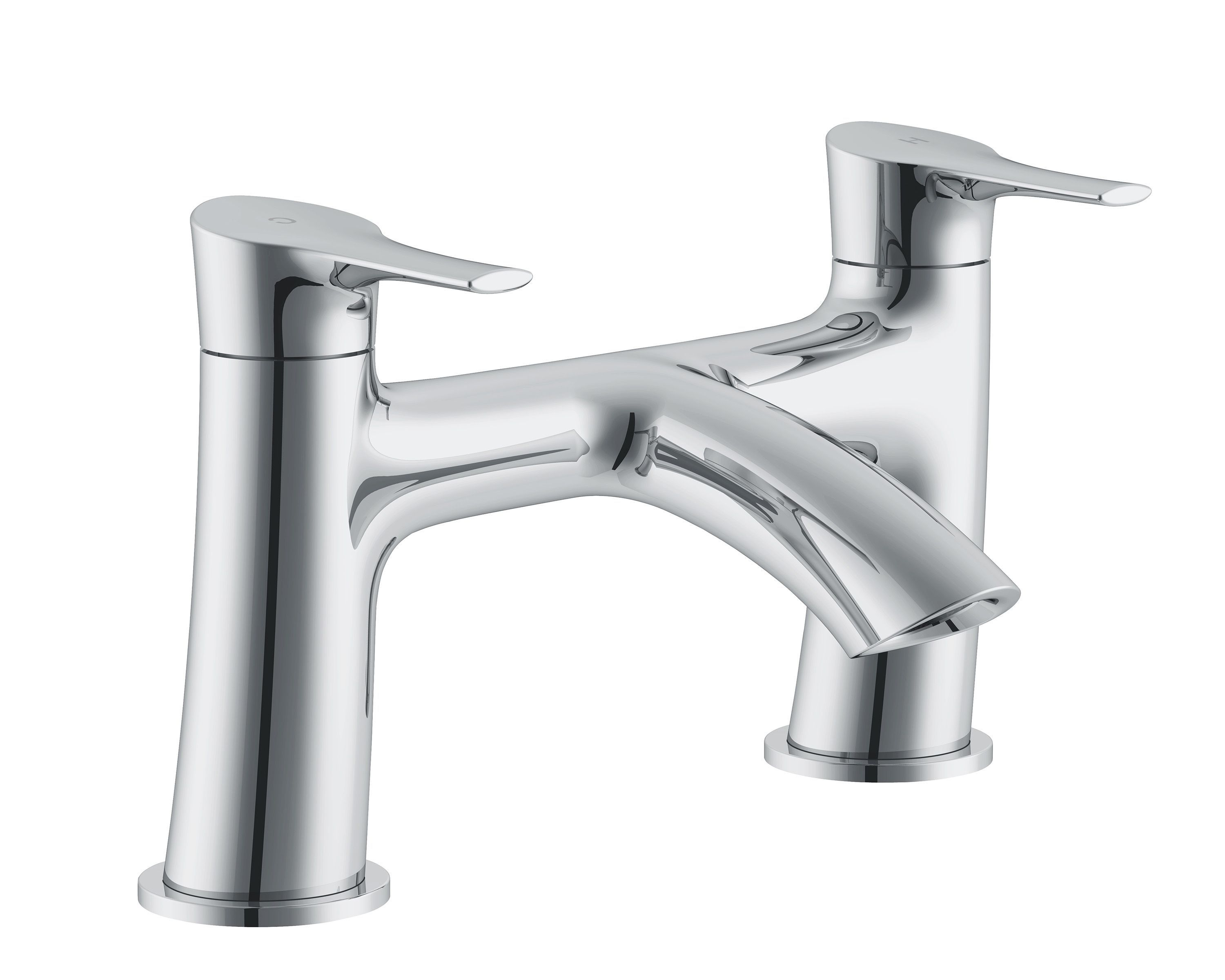 Cooke & Lewis Oceanspray Chrome finish Bath mixer tap ...
