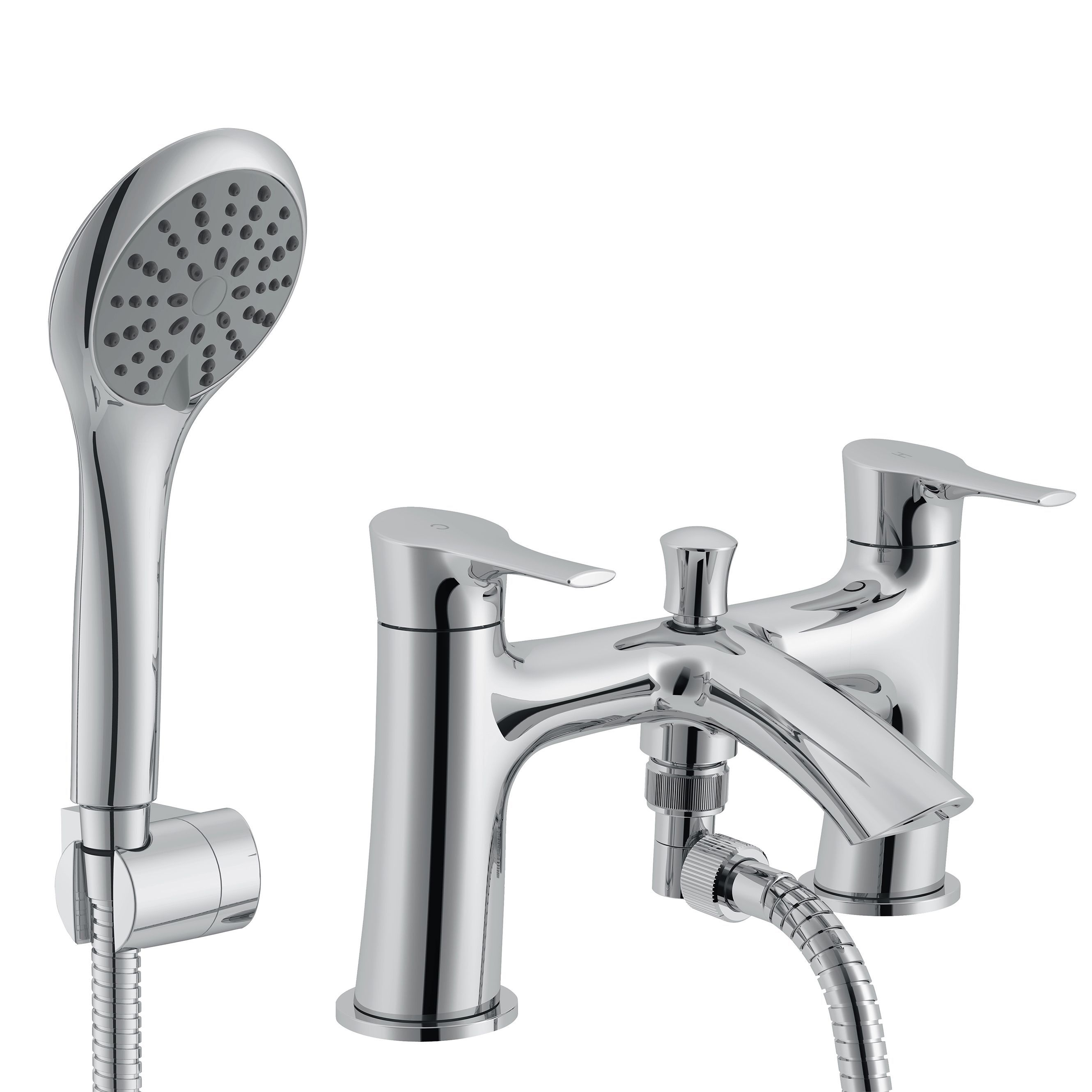 Cooke Lewis Oceanspray Chrome Bath Shower Mixer Tap
