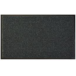 Diall Dark Grey Recycled Material Door Mat (L)0.75m