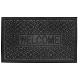 B&Q Black Plastic Door Mat (L)0.75m (W)450mm