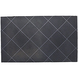 B&Q Grey Rubber Door Mat (L)0.75m (W)750mm