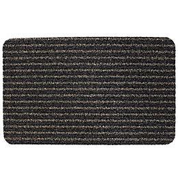 B&Q Black Plastic Door Mat (L)0.6m (W)400mm