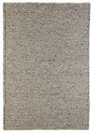 Colours Claudine Grey Thick knit Rug (L)1.7m (W)1.2 m