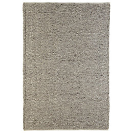 Colours Claudine Grey Thick Knit Rug (L)1.7m (W)1.2m