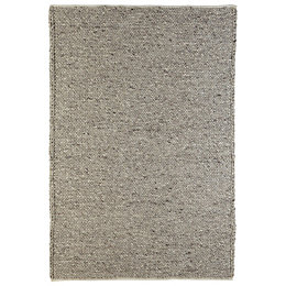Colours Claudine Grey Thick Knit Rug (L)2.3M (W)1.6