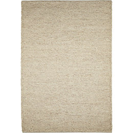 Colours Claudine Beige Thick Knit Rug (L)2.3m (W)1.6m
