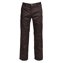 "Rigour Black Work Trousers W30-32"" L32"""