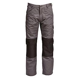 "Rigour Multi-Pocket Grey Trousers W32"" L34"""