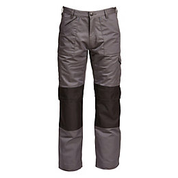 "Rigour Multi-Pocket Grey Trousers W34"" L34"""