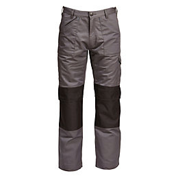 "Rigour Multi-Pocket Grey Trousers W38"" L34"""