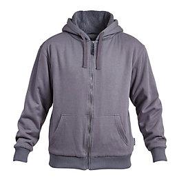 Rigour Grey Full zip hoodie Medium