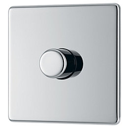 Colours 2-Way Single Polished chrome Dimmer switch