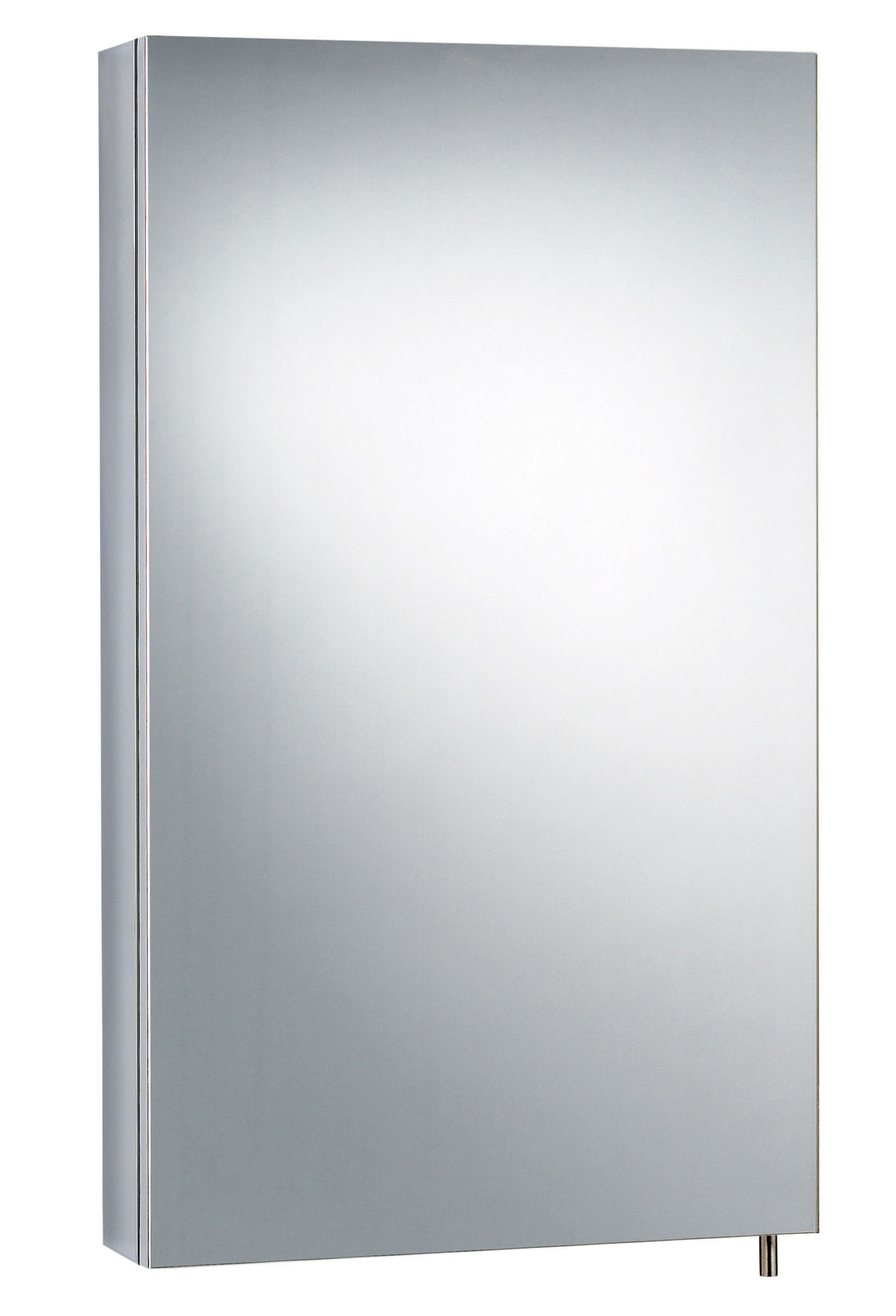 B&Q Fonteno Single Door Silver Tall Mirror Cabinet | Departments ...