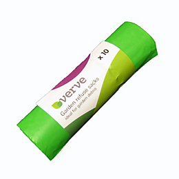 Verve Green Polythene Refuse bag, Roll of 10