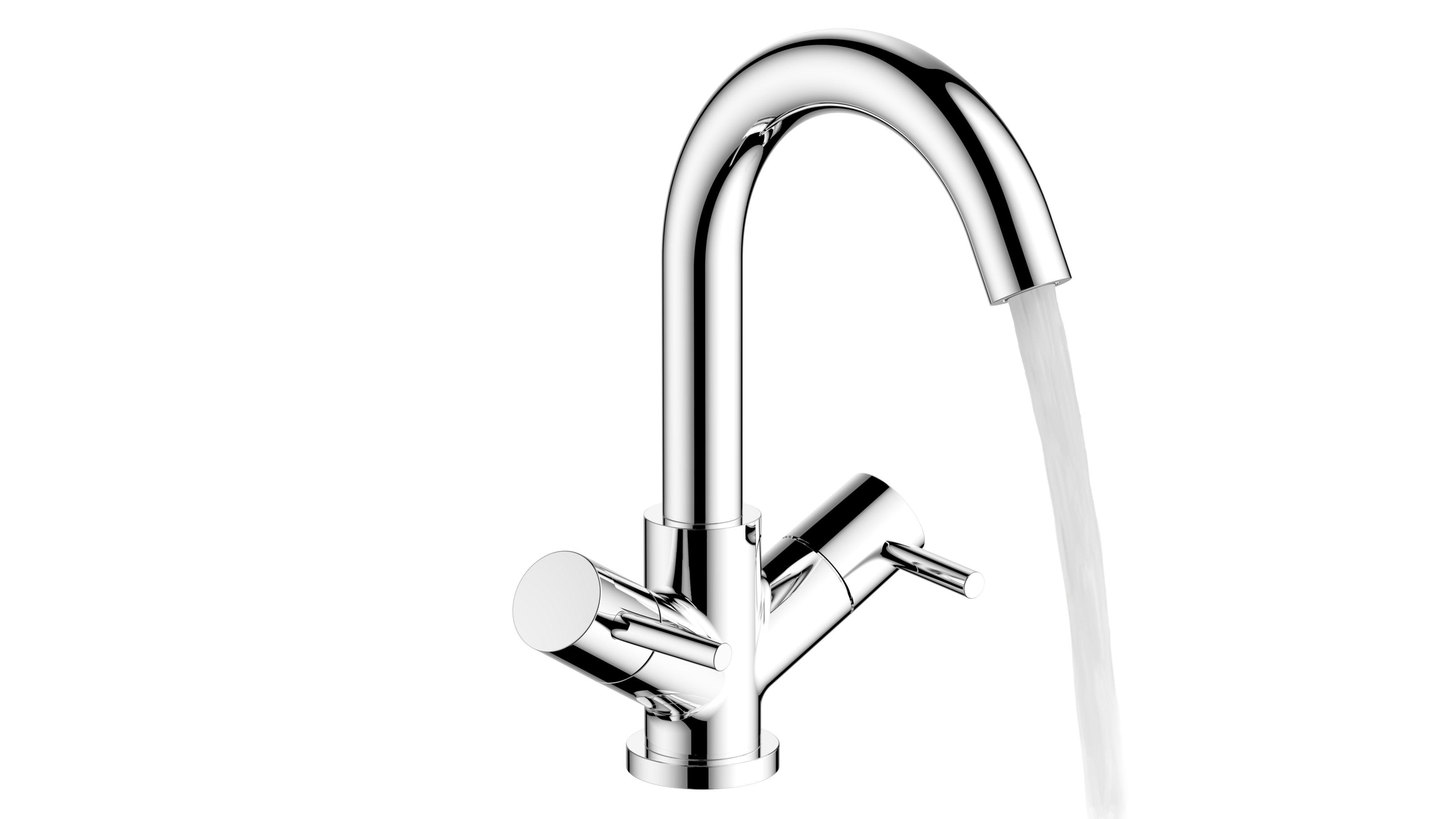 cooke lewis classic 2 lever basin mixer tap. Black Bedroom Furniture Sets. Home Design Ideas