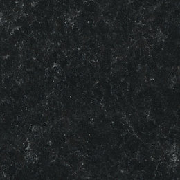 B&Q Lima Satin Black Granite Effect Worktop Edging