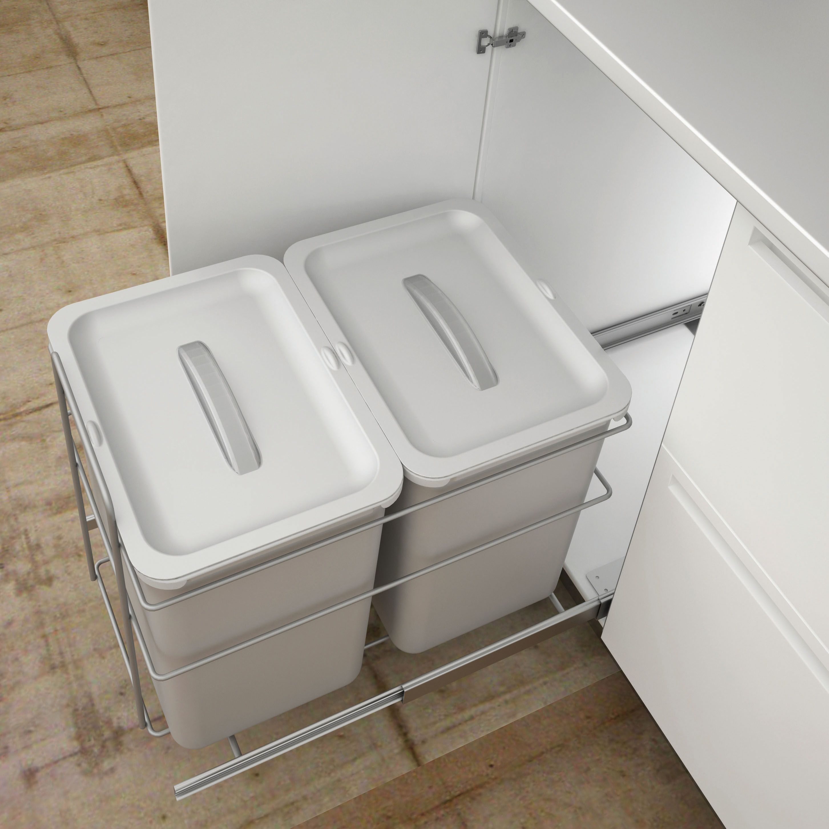 kitchen bin ideas it kitchens 400 mm integrated base mount pull out kitchen 12924