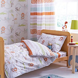 Colours Animal Friends Animals Multicolour Single Duvet Set