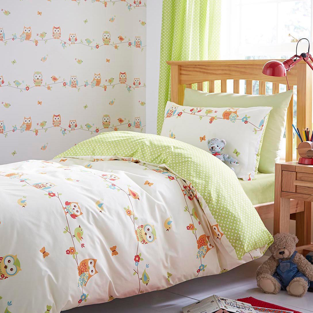 Colours Owls Owl Multicolour Single Duvet Set