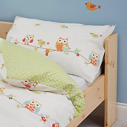 Colours Owls Owl Multicolour Junior Cot Duvet Set